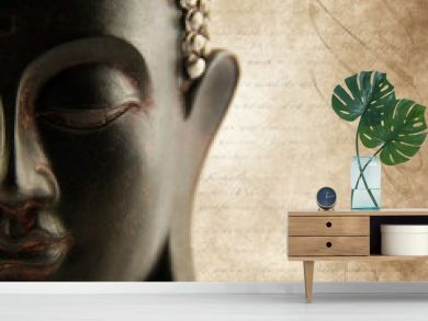 Buddha grunge with letters