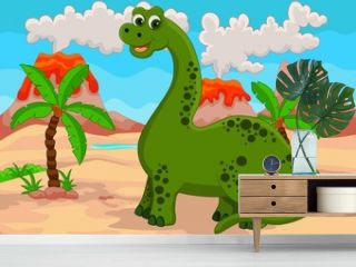 funny cartoon dinosaur