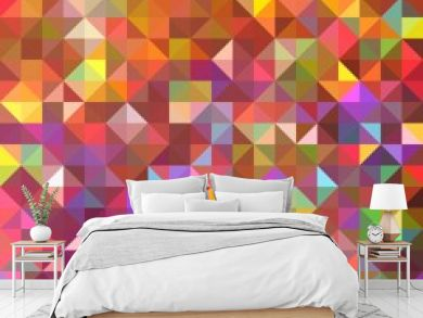Seamless geometric pattern with triangles.