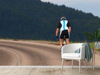 cycliste en montée