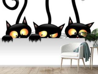 Funny Cats Cartoon with Panel-Gatti Buffi con Pannello