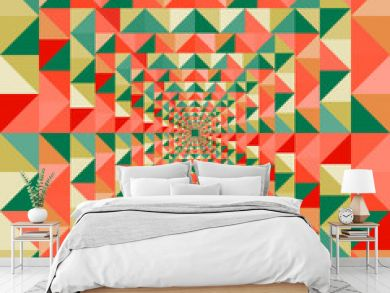 Colorful visual effect seamless pattern background. EPS10 file.