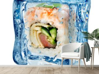 Sushi in ice cube