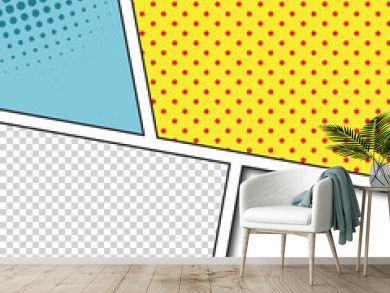 Speech Bubbles in Pop-Art Style background