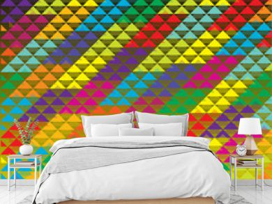 abstract bright triangles background