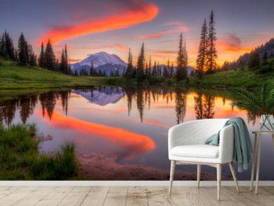 Tipsoo lake sunset