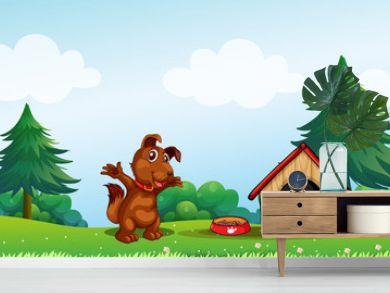 A playful brown puppy