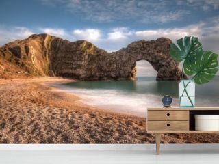 Durdle Dor a rock arch Dorset England