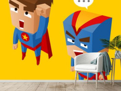 Two Blue superheroes