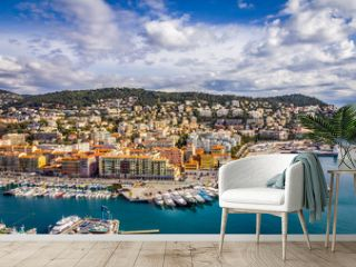 View of the harbour from the Castle Hill, Nice, France