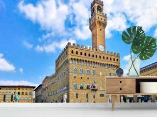 Piazza della Signoria with Palazzo Vecchio, Florence, Italy