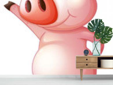 A pig dancing