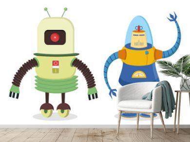 set of two retro robots