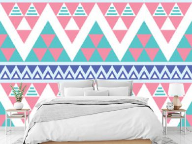Tribal aztec colorful seamless pattern