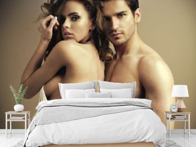 Fantastic couple in the bedroom