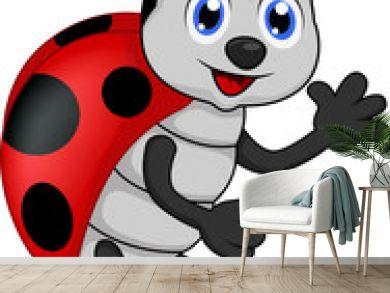 funny lady bug cartoon