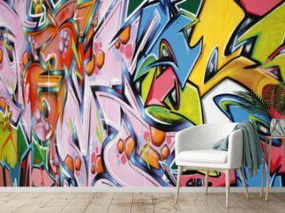 Couleur vive et graffiti