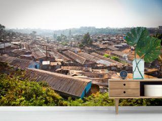 Kibera slum in Nairobi, Kenya.