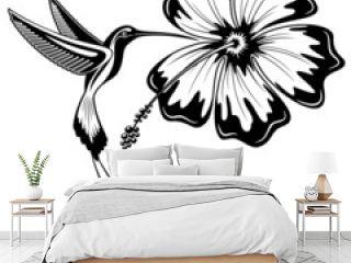 Hummingbird and Hibiscus Tattoo