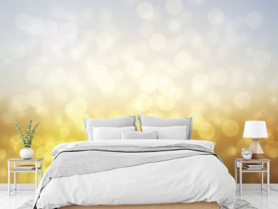abstract sunny landscape background with glitter bokeh lights