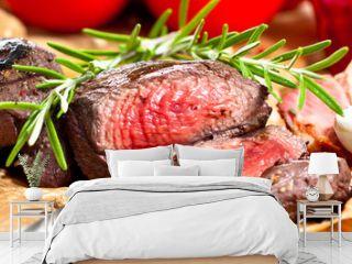Saftiges steak fleisch auf dem Tisch