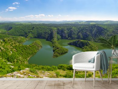 Canyon of Uvac river, Serbia