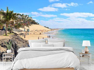 Beach of Morro Jable, Fuerteventura, Spain