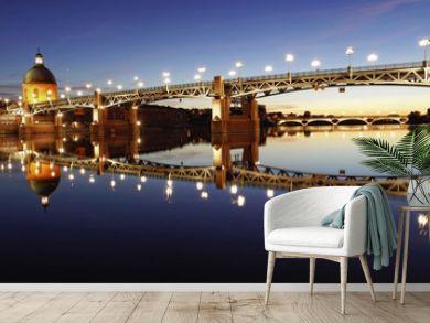 Les belles couleurs de Toulouse au coucher de soleil