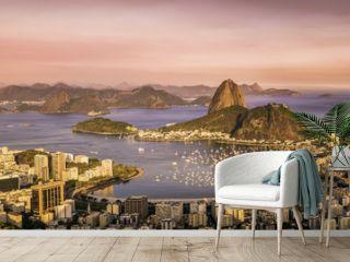 Panorama of Botafogo Bay in  Rio de Janeiro, Brazil