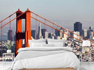 San Francisco with the Golden Gate bridge