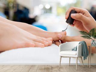Applying nail polish