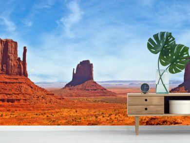Nature in Monument Valley Navajo Park, Utah USA