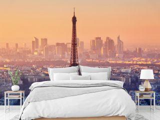 Eiffel Tower in evening light, Paris, France