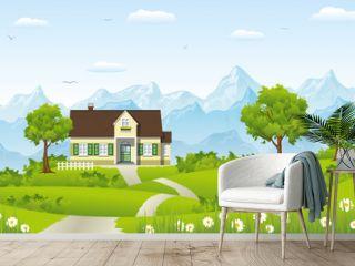Sommerlandschaft mit Haus