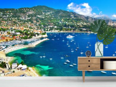 azure coast of France - panoramic view of Nice