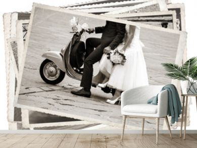 Black and white photos, Vintage photos with newlywed