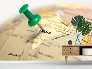 Location India. Green pin on the map.