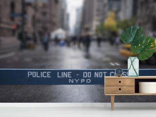 Police Line Do Not Cross. New York City.