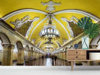 Komsomolskaya (Koltsevaya Line) station of Moscow metro