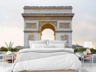 Arc de Triomphe in Paris, sunlight
