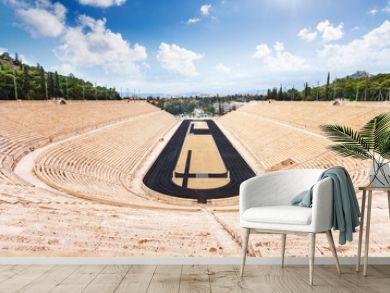 Top view of Panathenaic Stadium in Athens