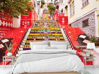 Tiled steps in Lapa, Rio de Janeiro, Brazil