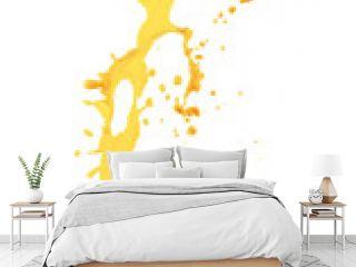 orange juice splash isolated on the white background