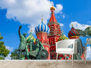 Saint Basil's Cathedral on Red square in Moscow