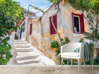 Beautiful street in Athens, Greece.