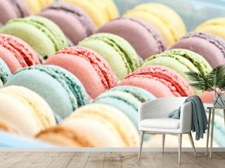 Fresh Pastel Colored Macarons