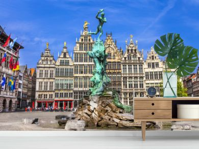 Traditional flemish architecture in Belgium - Antwerpen city