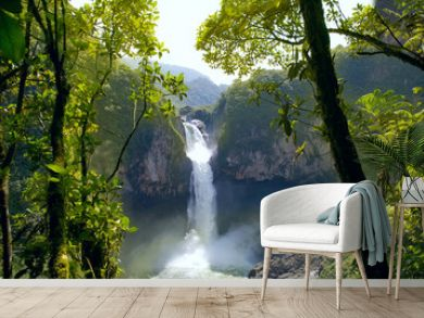San Rafael Falls. The Largest Waterfall in Ecuador