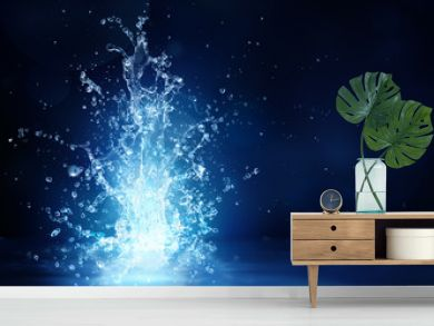 shine source - fantasy of water for freshness concept - beauty in nature