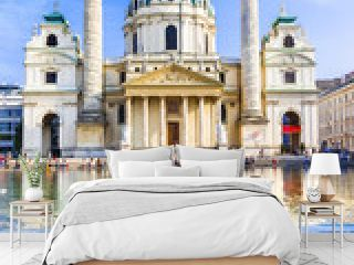 Vienna - famous St. Charle's church